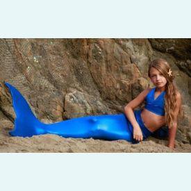 Хвост русалки для плавания Стандарт синий+купальник
