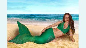 Австралийский зеленый хвост русалки для фотосессии модель 2013