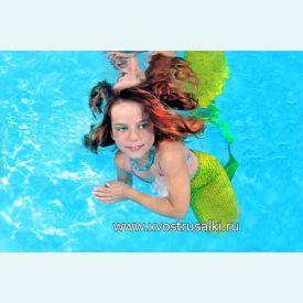 Хвост русалки Magic  Neptuna  салатовый  +купальник
