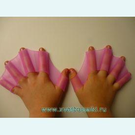 Перепонки для плавания розовые