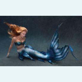 Хвост русалки силиконовый с чешуей Mertailor