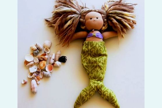 Куклы русалки. Как сшить куклу русалку.