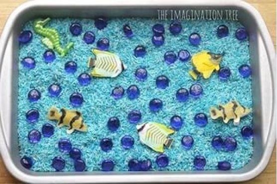 Поделки, игры с русалками, сенсорная коробка русалки