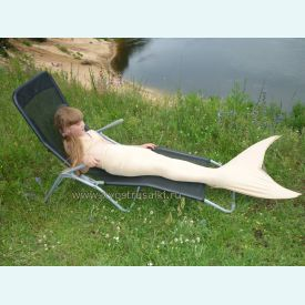 Хвост русалки EXTRA естественный бежево-золотистый +купальник