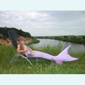 Хвост русалки EXTRA светло-фиолетовый+топ