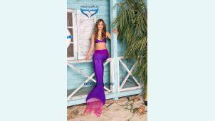 Хвост русалки Delfina Violet фиолетовый +купальник