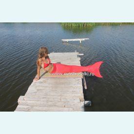 Хвост русалки Normal Профи для плавания красный+купальник