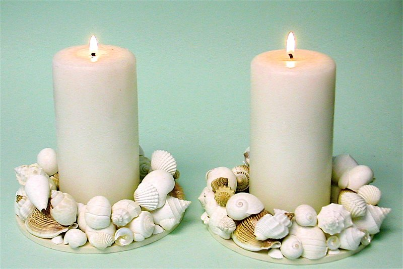 Декупаж на свечах